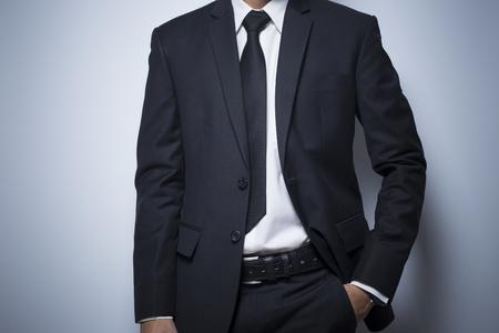 akimbo: Businessman informal akimbo action