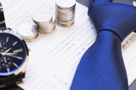 money management: Money management and finance concept Stock Photo