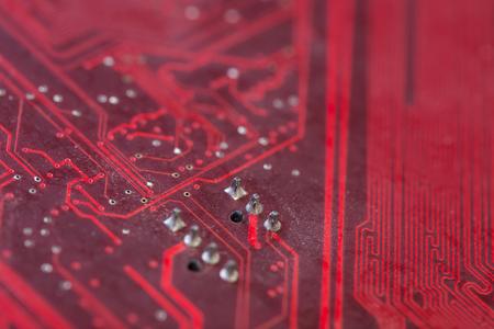 electronic background: Closeup electronic circuit board background Stock Photo
