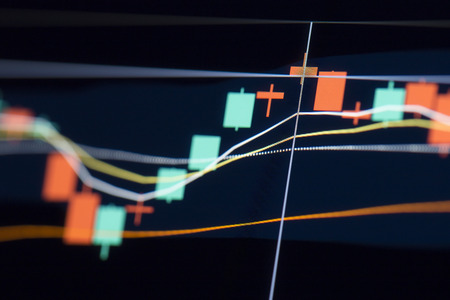 stock: Graph of stock market Stock Photo