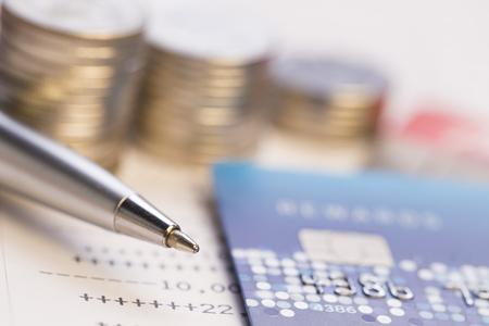 bankcard: Money management and finance concept Stock Photo