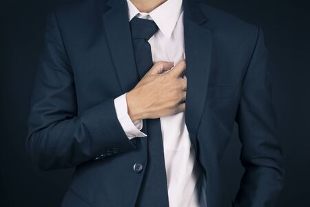 chest pain: Businessman Has Chest Pain