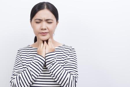 Woman has sore throat