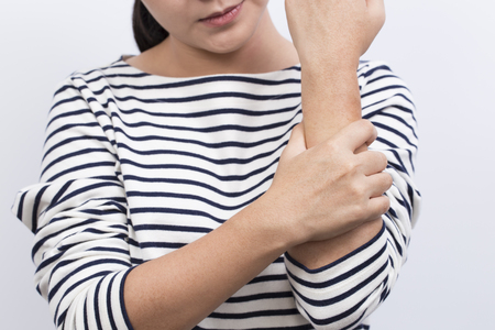 arm: Woman has arm pain