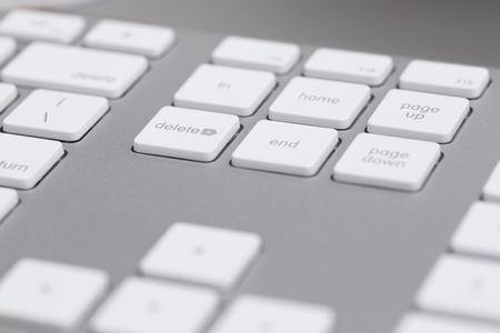delete button: Close up of keyboard delete button