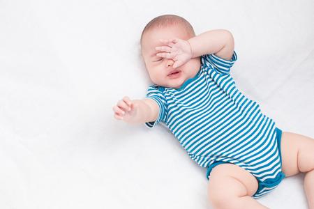 Portrait adorable baby sleep 스톡 콘텐츠