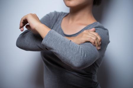 Woman has arm pain