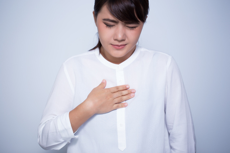 Woman has reflux acid