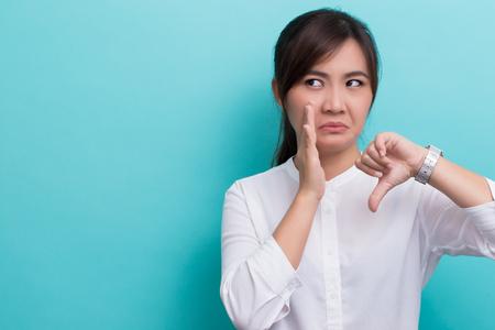Asian woman gossip bad news