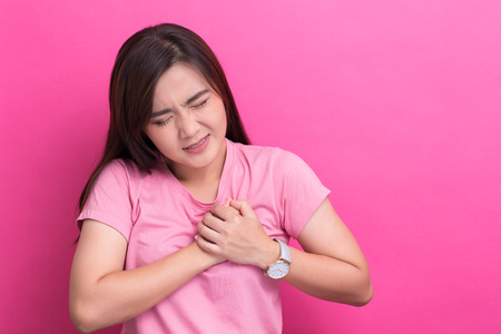 Woman has chest pain