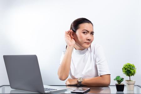 Woman gossip at office