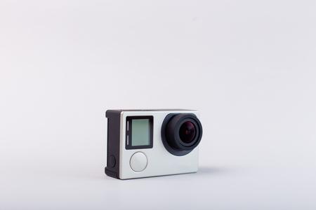 Action camera isolated on white background Imagens