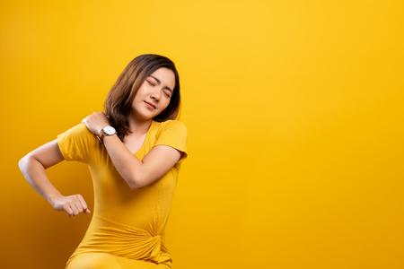 Woman has body pain