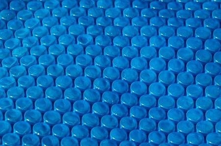 wrap: Blue bubble wrap close up