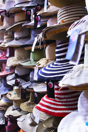 snazzy: colorful womens hats in store