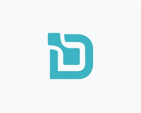 d data: Letter D logo data design  ,logo icon design template.