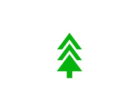 Green sketch of trees.  Tree icon design.
