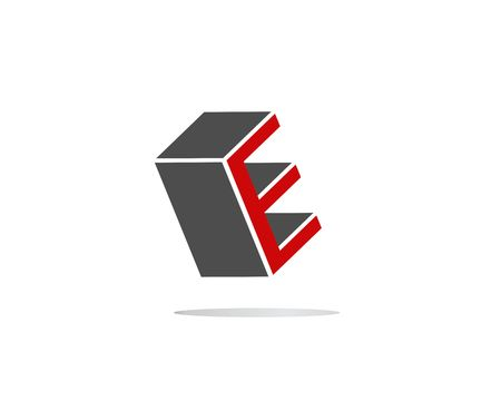 Letter E square design abstract. Vektorové ilustrace