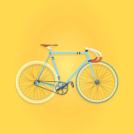 bicicleta vector: De piñón fijo vector moto