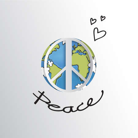 world peace: World peace sign Illustration