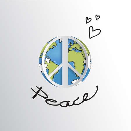 World peace sign Vetores