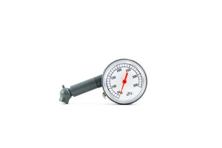air pump: Tire pressure gauge air pump measure, Manometer Stock Photo