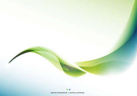 Grüne Welle abstrakten Hintergrund. Präsentationsvorlage. Design-Layout. Tapete