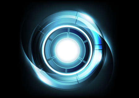 hi speed: Abstract Futuristic Technology Background, vector