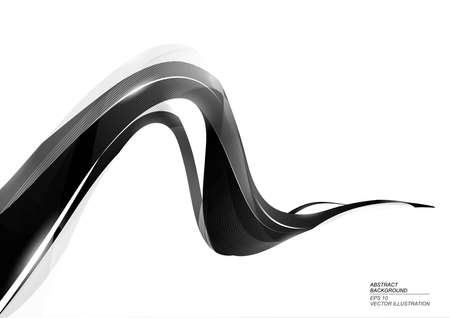 Black Ink Stripe Abstract Background