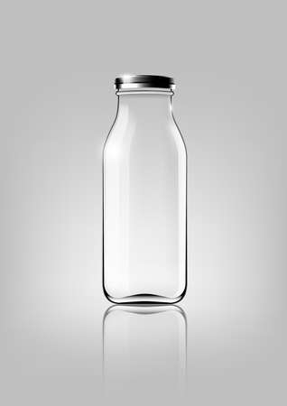 Transparent glass bottle for design package and advertisement ,Vector