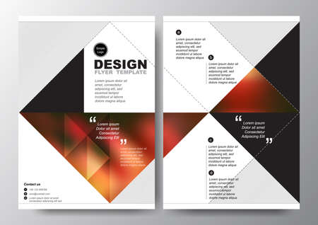 Abstract red black triangle background for minimal Poster Brochure Flyer design Layout vector template in A4 size