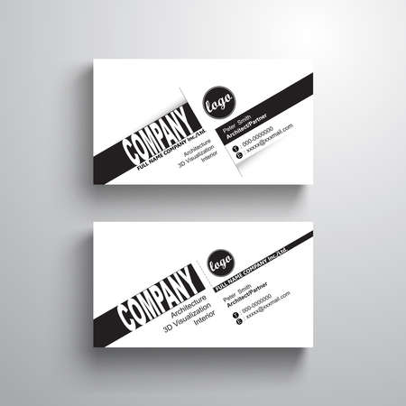 Black white design typography name card template business card black white design typography name card template business card minimalist style stock vector wajeb Gallery