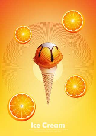 Ice cream in the cone