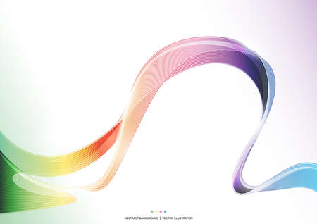 Colorful wave stripe ribbon abstract Background, rainbow concept, vector illustration