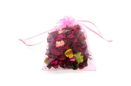 sachet: potpourri sachet isolated on a white background Stock Photo