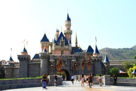 Sleeping Beauty Castle in HK Disneyland