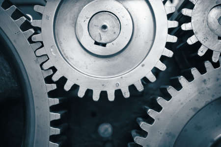 Large cog wheels in the motor  Stock Photo - 17169940