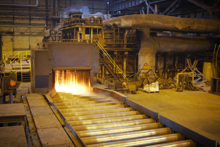 Hot steel on the production line  Stock Photo - 17175488