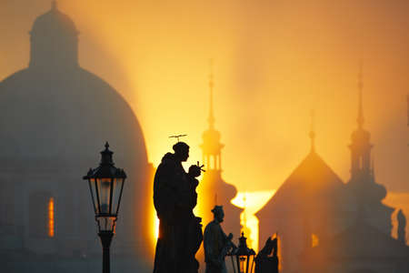 Statues on Charles Bridge, Prague, Czech Republic photo
