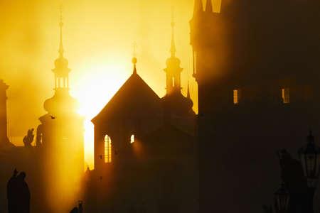 r�publique  tch�que: Matin d'automne - Prague, R�publique tch�que