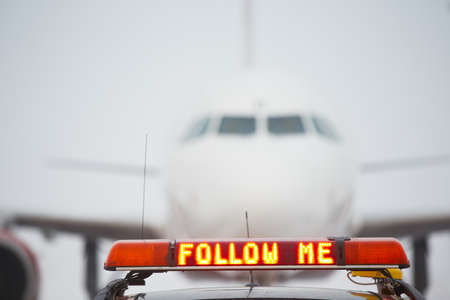 Follow me car on airport