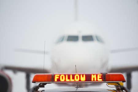 Follow me car on airport