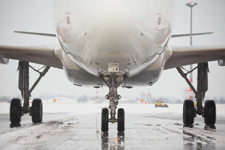 Undercarriage of the airplane in winter Stock Photo - 17170103