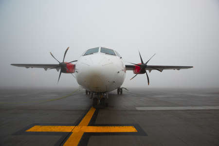 Fog at the airport photo