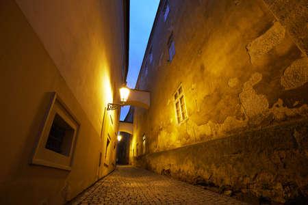 city alley: Dark alley