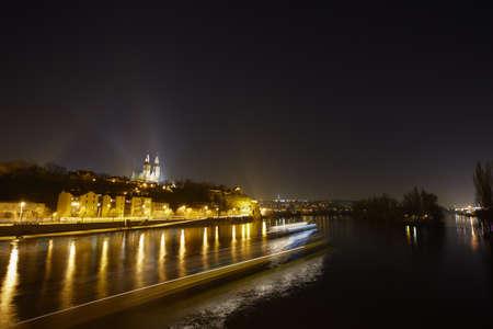 Vltava River at the night Stock Photo - 17170077