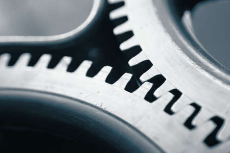 Large cog wheels in the motor Stock Photo - 17170040