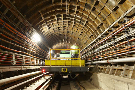 Maintenance vehicle in the tunnel photo