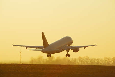 Take off at the sunset