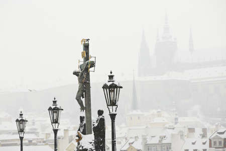 Winter in the city, Prague Stock Photo - 17379112